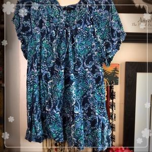 Tommy Hilfiger guauzy short sleeve blouse siz 1x